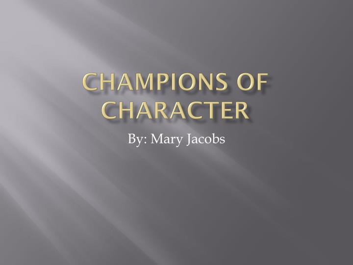 champions of character n.