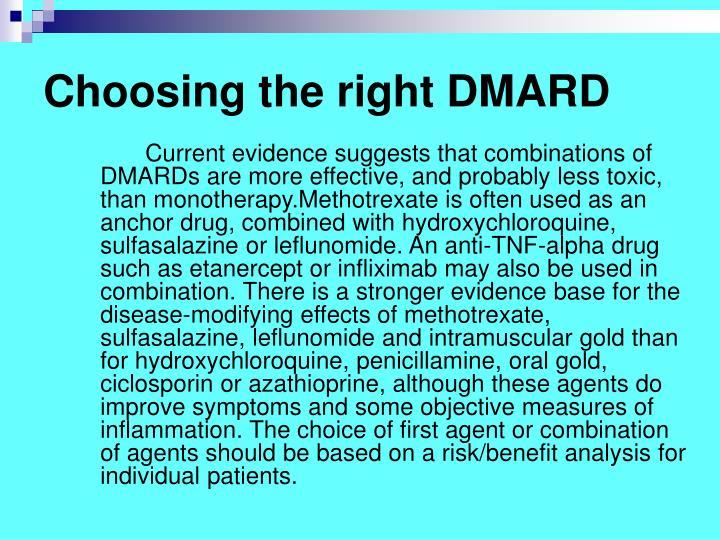 Choosing the right DMARD