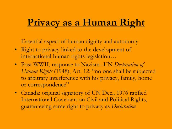 Privacy as a Human Right