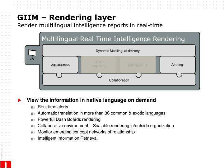 GIIM – Rendering layer
