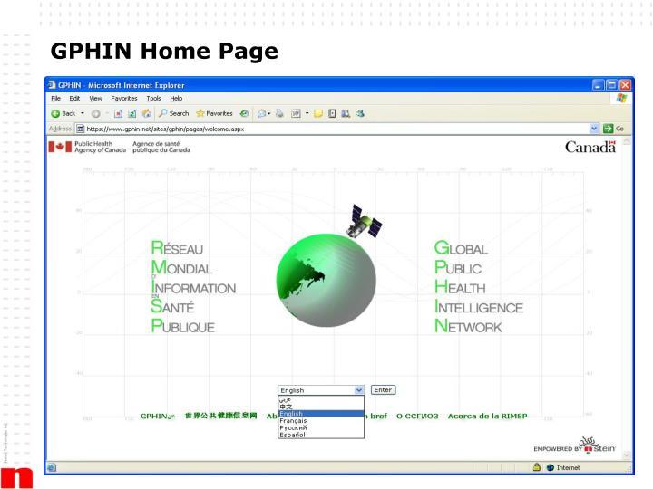 GPHIN Home Page