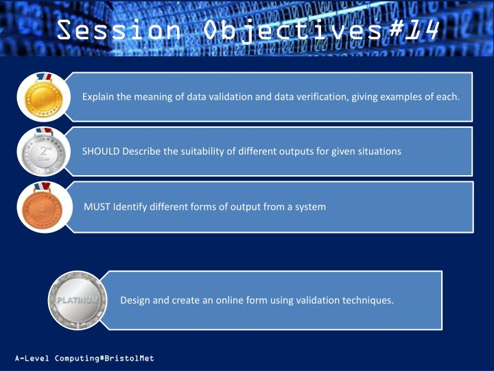 Session objectives 14