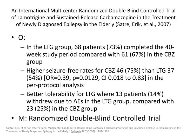 An International Multicenter Randomized Double-Blind Controlled Trial of