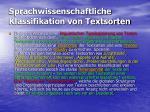 sprachwissenschaftliche klassifikation von textsorten2