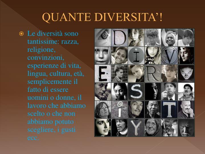 Quante diversita
