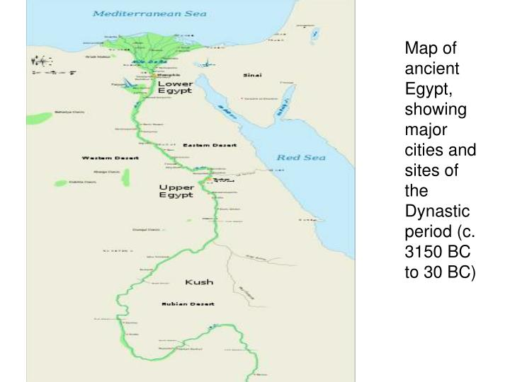 PPT The Ancient Egyptian Civilization PowerPoint Presentation - Map of egypt's major cities
