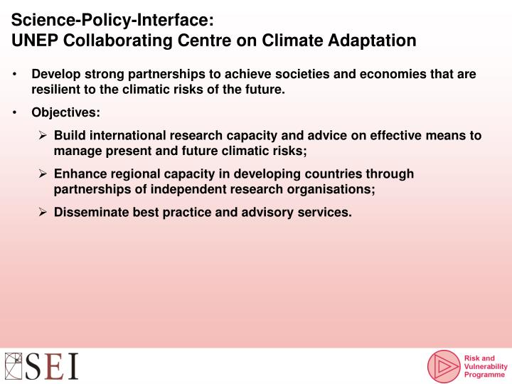 Science-Policy-Interface:
