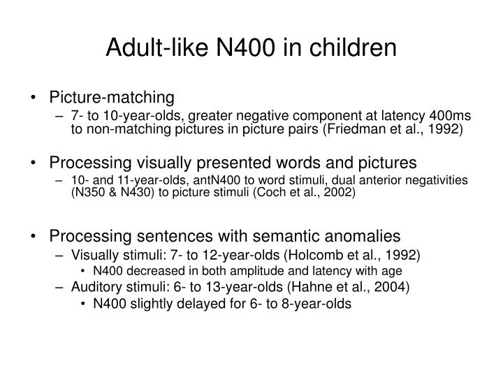 Adult-like N400 in children