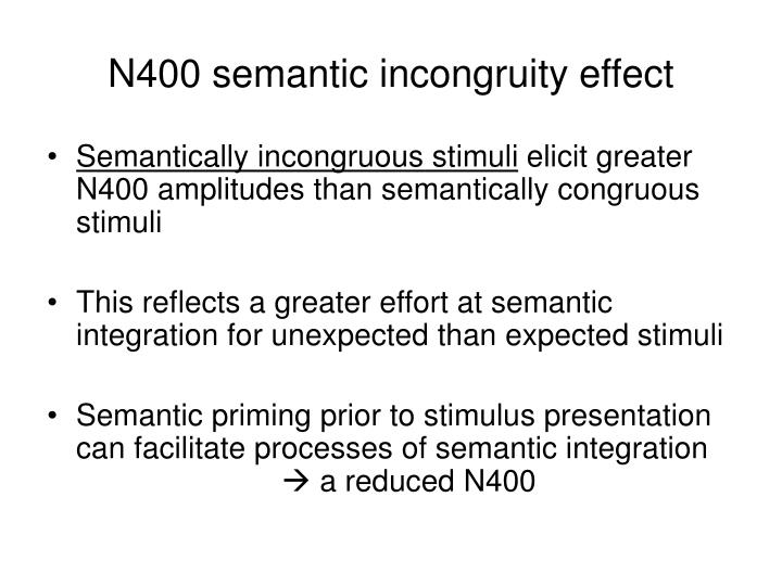 N400 semantic incongruity effect