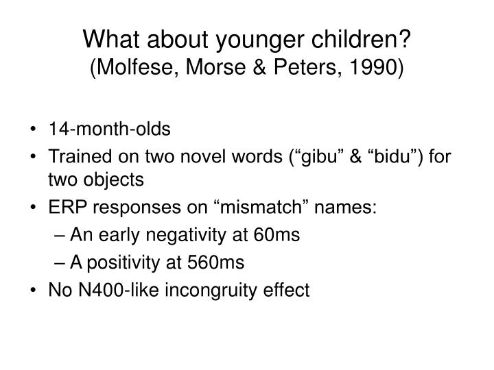What about younger children?