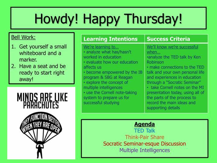 Howdy! Happy Thursday!