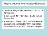 plague induced reforestation estimates