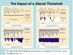the impact of a glacial threshold