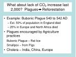 what about lack of co 2 increase last 2 000 plagues reforestation