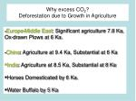 why excess co 2 deforestation due to growth in agriculture