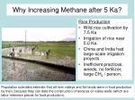 why increasing methane after 5 ka