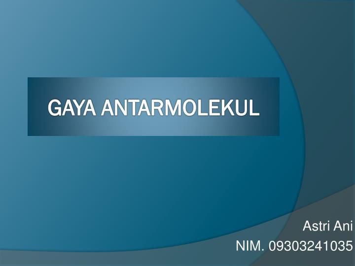 Astri ani nim 09303241035