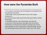 how were the pyramids built1