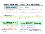 restoration scenario of chiral symmetry