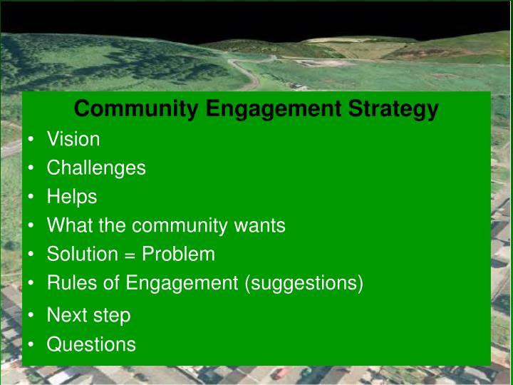 Community Engagement Strategy