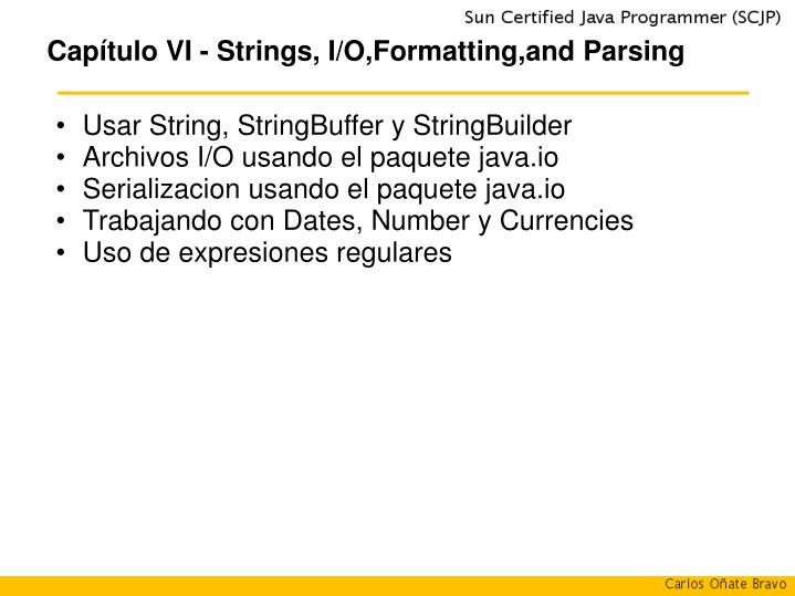 cap tulo vi strings i o formatting and parsing n.