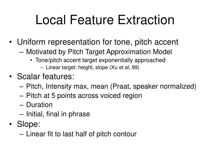 Local Feature Extraction