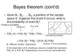 bayes theorem cont d