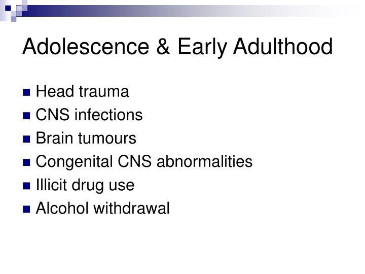 Adolescence & Early Adulthood