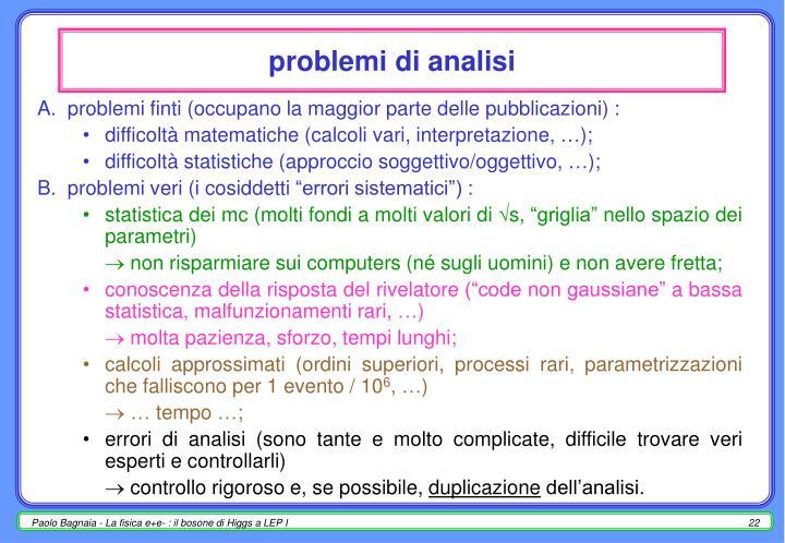 problemi di analisi