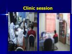 clinic session