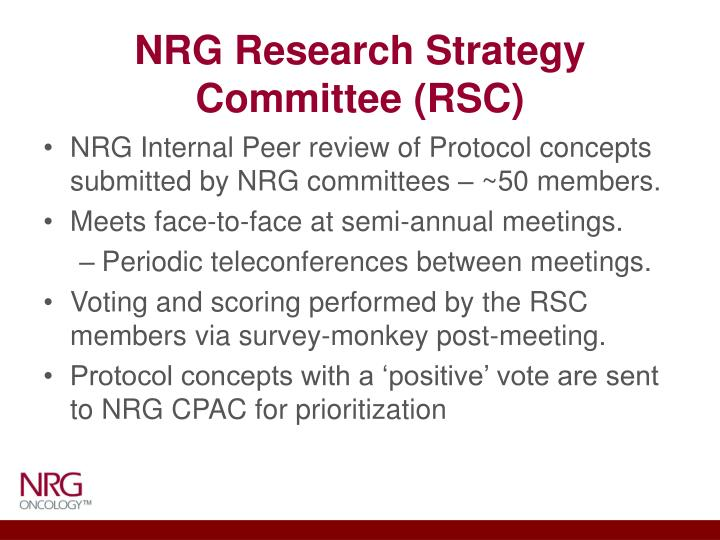 Nrg research strategy committee rsc
