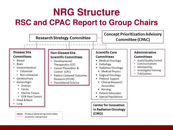Nrg structure rsc and cpac report to group chairs