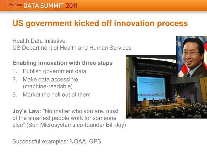 US government kicked off innovation process