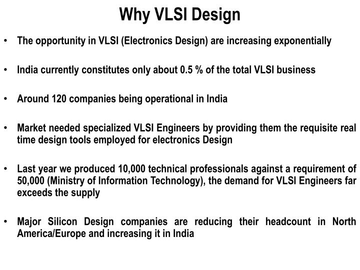 Why VLSI Design