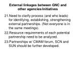 external linkages between gnc and other agencies initiatives1