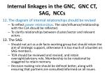 internal linkages in the gnc gnc ct sag nccs