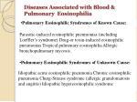 diseases associated with blood pulmonary eosinophilia