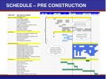 schedule pre construction