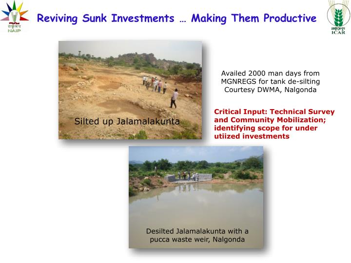 Reviving Sunk Investments … Making Them Productive