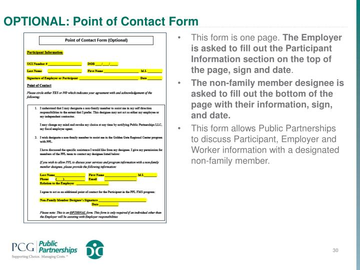 OPTIONAL: Point of Contact Form