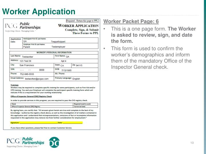 Worker Application