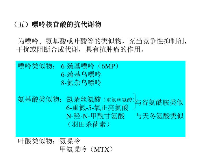 (五)嘌呤核苷酸的抗代谢物