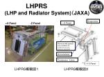 lhprs lhp and radiator system jaxa