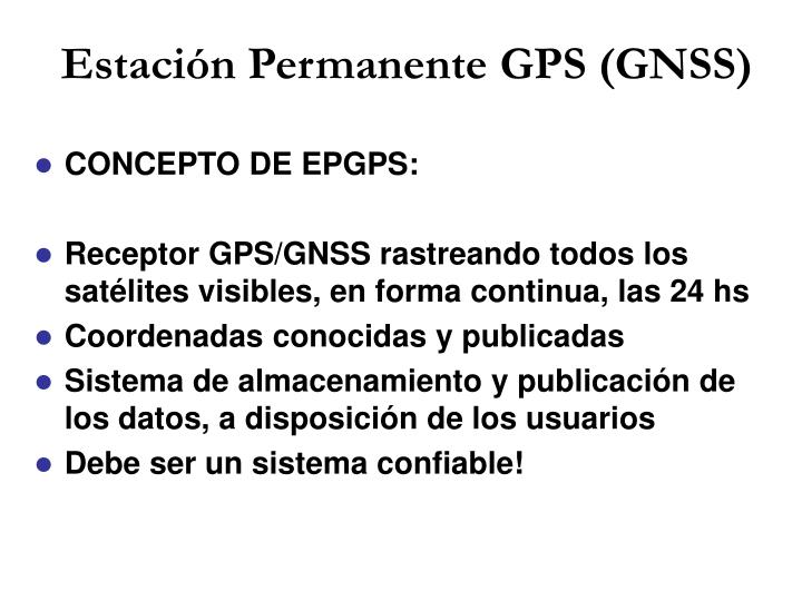 Estación Permanente GPS (GNSS)