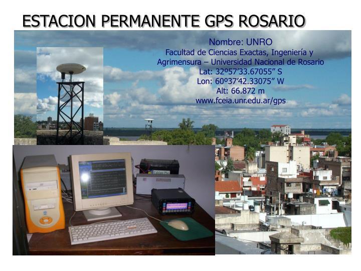 ESTACION PERMANENTE GPS ROSARIO