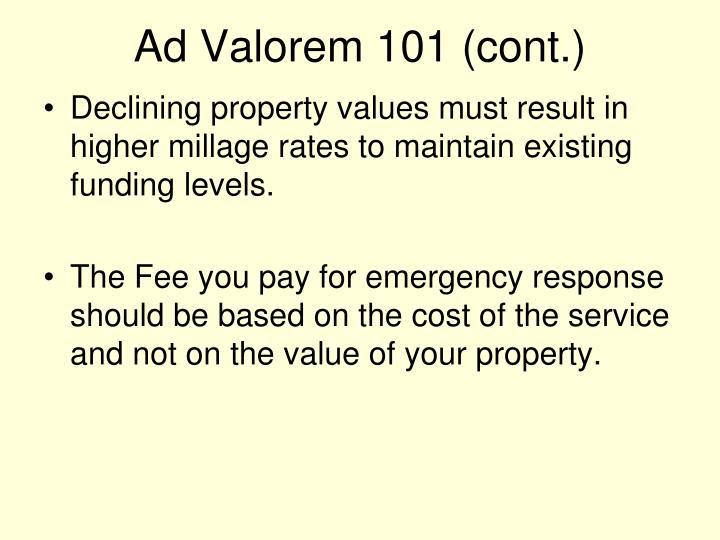 Ad Valorem 101 (cont.)