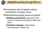 mainstreaming energy access
