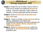 mdg based energy targets for 2015