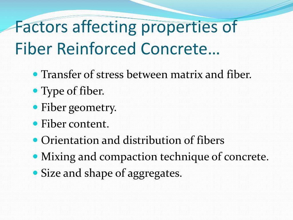 PPT - Fiber Reinforced Concrete Trade Name: Wirand Concrete
