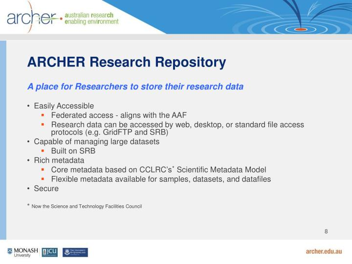 ARCHER Research Repository